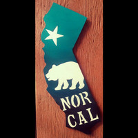 Personalized California signs, Hand painted silhouette art, Wood wall decor, Cali state art, Custom California Art, Home Decor, Gift for him