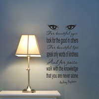 Audrey Hepburn vinyl wall decals Beautiful Eyes