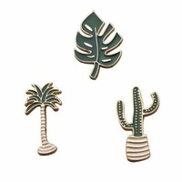 Arrival Cartoon Series Diy Brooch Pins Cactus Marple Leaf Enamel Lapel Pin For Women