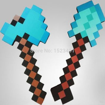 2Pcs/Lot New Minecraft Toys Foam Sword Pick Axe Minecraft Game Weapons Model Toys Kids Toys Birthday & Christmas Gift 18-23 inch