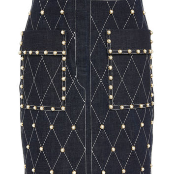 Studded Denim Skirt | Moda Operandi