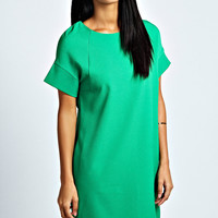 Jasmine Structured Sleeve Panelled Shift Dress