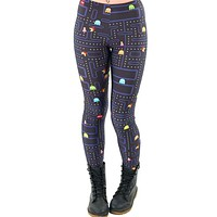 Women Space Print Pants Fitness Legging