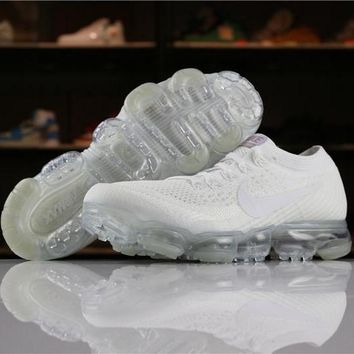 Nike Air VaporMax Flyknit 2018 Triple White 849558-100 Sport Running Shoes - Best Online Sale