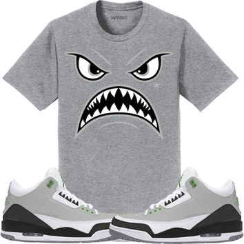 Jordan 3 Chlorophyll Sneaker Tees Shirt to Match - OREO WARFACE