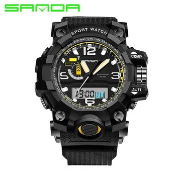 Mens Watches 2017 SANDA Fashion Watch Men G Style Waterproof Sports Military Watches Shock Luxury Analog Digital Sports Watches