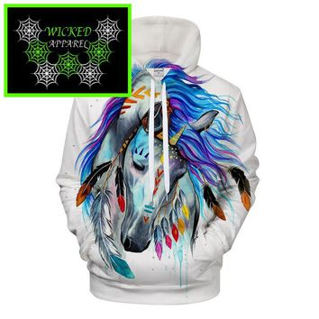 Wicked Apparel Pferd Hoodie by Pixie cold #500