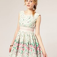 Darling | Darling Vintage Floral Print Dress at ASOS