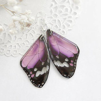 Blush pink earrings Butterfly jewelry Summer party favors for girls gift for goddaughter gift from grandmother gift Summer beach jewelry