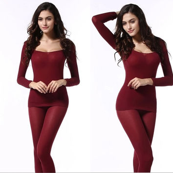 Ultrathin Women Modal Thermal Underwear