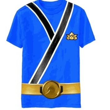 Power Rangers Blue Samurai Ranger Uniform Monster Toddler T-shirt  - Power Rangers - Free Shipping on orders over $60 | TV Store Online