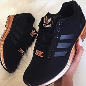 97d9f7ea39f4f ADIDAS ZX Flux Women Running Sport Casual Shoes Sneakers Black g