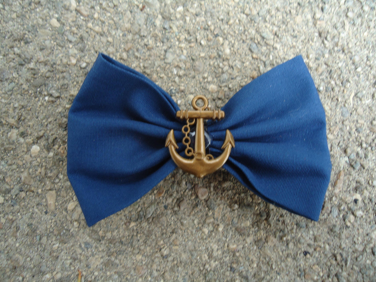 Blue Anchor Bow by bwoman on Etsy