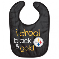 Pittsburgh Steelers Baby Bib- I Drool Black & Gold - Official Online Store