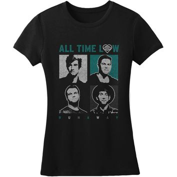 All Time Low  Missing People Junior Top Black