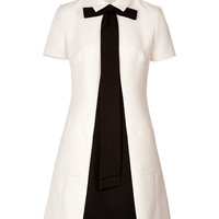Valentino - Wool-Silk Crepe Trompe L'Oeil Tie Dress