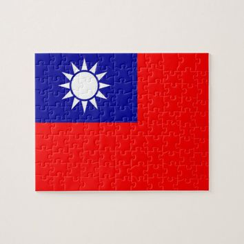 Puzzle with Flag of Taiwan
