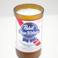 Pabst Blue Ribbon Candle, Highly Scented Unique Candle