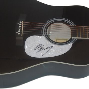 Drew Baldridge Autographed Full Size 41 Inch Country Music Acoustic Guitar, Proof Photo