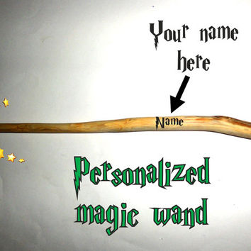 Magic wand. Wizard wand. Harry Potter customized wand. Wooden magic wand. Natural magic wand. Druid pagan gift. Hand carved wood. Gift wand.