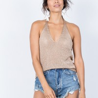 Summer Metallics Halter Top