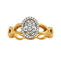 10k Gold 1/4-ct. T.W. Diamond Cluster Halo Infinity Ring (White)