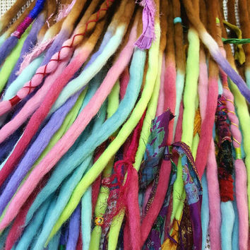 Wool Dreads Hair Extensions Dreadlocks  Ombre Hair Accessories Set of 60 as seen in the Marc Jacobs Fashion Show Synthetic Dreads