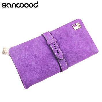 Women's Vintage Long Faux Leather Trifold Purse Coin Wallet Handbag Money Bag BW1Y