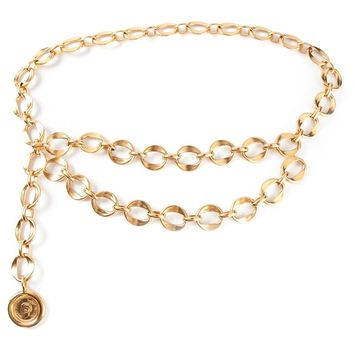 Chanel Vintage chain belt necklace