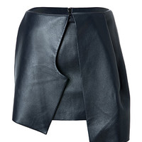 J.W. Anderson - Leather Bow Skirt in Navy