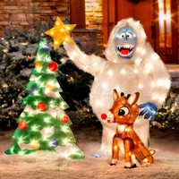 Rudolph & Bumble Outdoor Christmas Decor