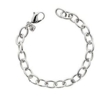 Swarovski Jewelry SIMPLE CHARM OVAL BRACELET Rhodium Plated #5060960