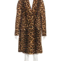 Printed Shearling Coat