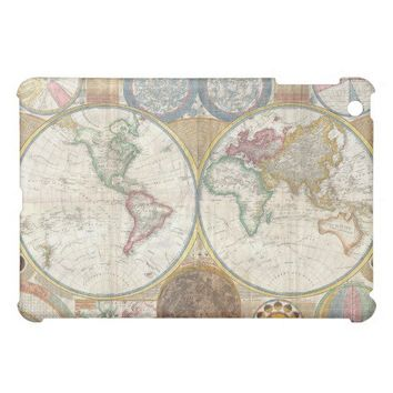 Vintage Double Hemisphere Map of the World iPad Mini Case from Zazzle.com