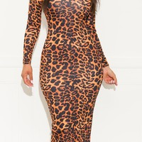 Perfect Date Cheetah Print Dress