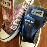Doctor Who Custom Painted Shoes