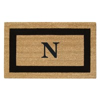 Creative Accents Heavy Duty SuperScraper Mat with Monogram | www.hayneedle.com