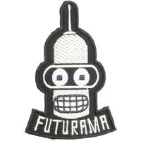 "BENDER Futurama Robot Cartoon Iron On Embroidered Patch 4""/10cm"
