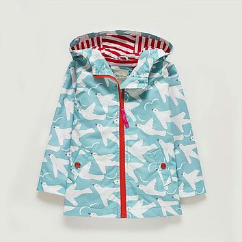 UK Original MeanBear Children Jacket Girls Colorful Girls Windbreaker Kids Cheerful Girls Spring Flower Jacket Trench Clothes