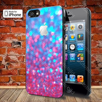 Purple Blue Glitter Case For iPhone 5, 5S, 5C, 4, 4S and Samsung Galaxy S3, S4