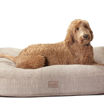 Tweed Dog Bed | Brown