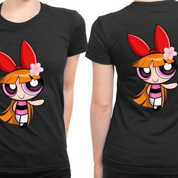 ICIK7H3 The Powerpuff Girls Pink 2 Sided Womens T Shirt