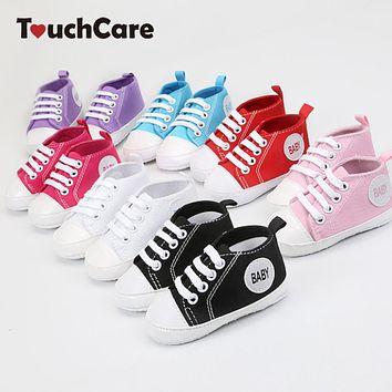 Infant Toddler Newborn Shoes Baby Boys Girls Canvas Shoes Anti-slip T-tied Soft Sole Shoes Sneaker First Walkers Pre walker