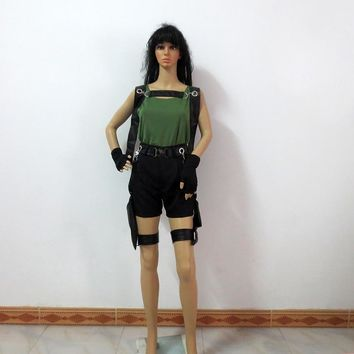 Tomb Raider Lara Croft Christmas Party Halloween Uniform Outfit Cosplay Costume Customize Any Size