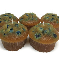 blueberry muffin candle,  bakery candle,  food candle,  blueberry candle