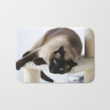 Hey You Bath Mat by Theresa Campbell D'August Art