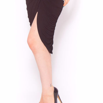 Amber Wrap Skirt in Black