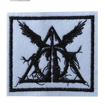 Deathly hallows Iron/Sew On Embroidered harry potter Patch Embroidery Hogwarts | eBay