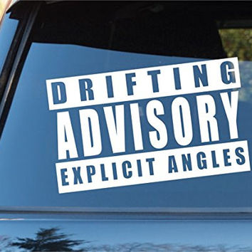 Drifting Advisory Car Window Windshield Lettering Decal Sticker Decals Sticke...