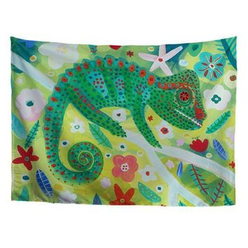 Green Gecko Tapestry